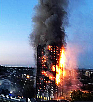 Pic: Grenfell Towerr blaze